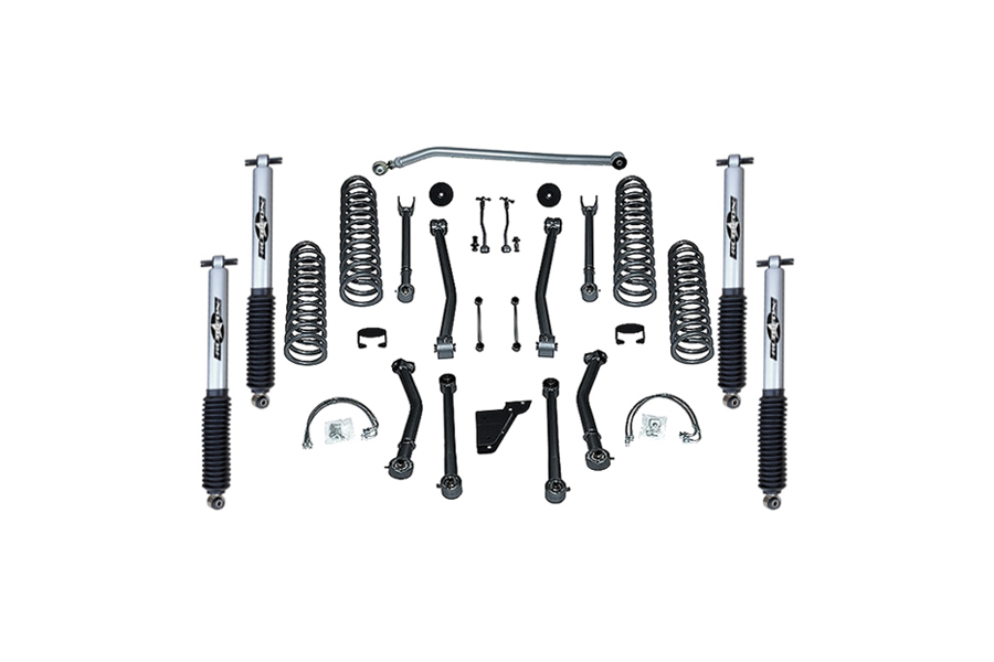 Rubicon Express SuperFlex 3.5in Short Arm Lift Kit, w/Mono Tube Shocks (Part Number:RE7123M)