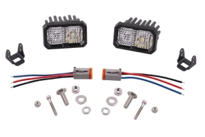 Diode Dynamics Stage Series C2 2in Sport White Combo LED Pods, Amber Backlight - Pair