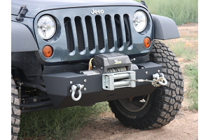 OR-Fab Front Stubby Bumper Center Winch Mount Wrinkle Black (Part Number: )