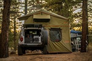 Roam Vagabond XL Rooftop Tent - Forest Green/Hyper Orange