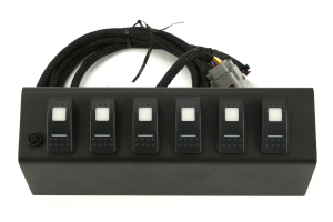 sPOD 6 Switch System with double LED light Contura rocker switches & Source System Blue - JK