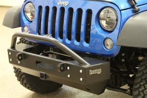 Rock Hard 4x4 Patriot Series Stubby Front Bumper w/Receiver and Lowered Winch Plate  (Part Number: )