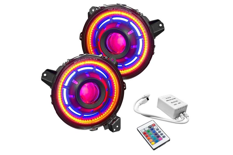 Oracle Oculus ColorSHIFT Bi-LED Projector Headlights - Simple Controller - JT/JL