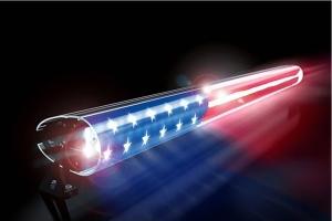 AeroLidz 52in Dual Row 'Red White Blue American Flag' Light Bar Insert