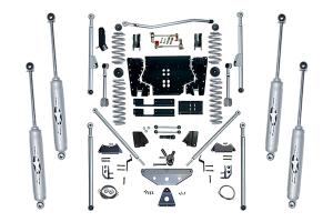 Rubicon Express 4.5in Extreme Duty Long Arm Lift Kit w/Rear Tri-Link & Twin Tube Shocks - TJ 2003-06