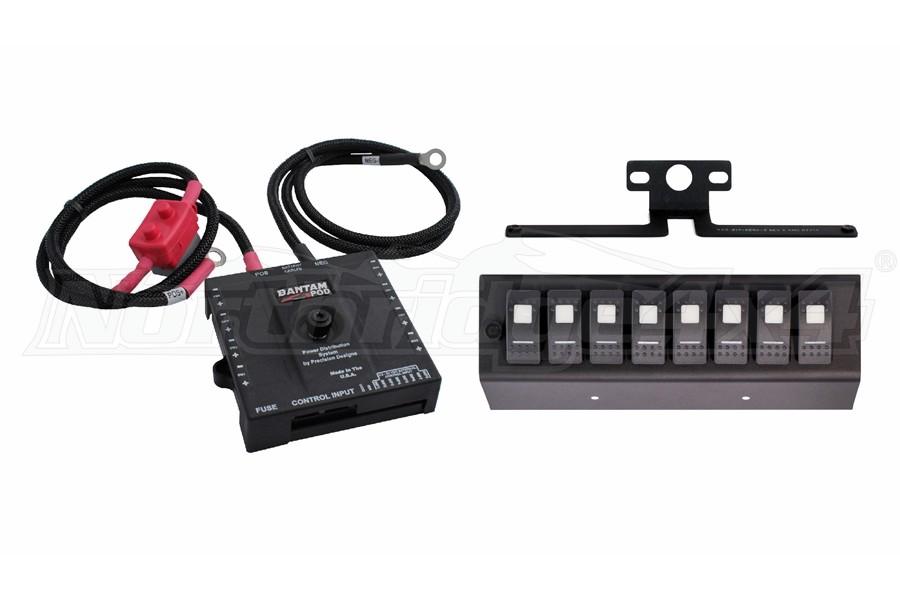 sPOD SE 8-Circuit Switch Panel System Red - JK 2007-08
