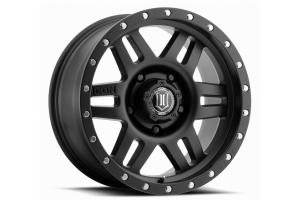 ICON Vehicle Dynamics Six Speed Wheel Satin Black, 17X8.5 5x5  - JT/JL/JK