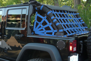 Dirty Dog 4x4 Spider Netting Rear Blue (Part Number: )