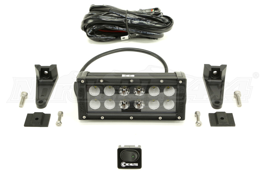KC Hilites 6in Combo LED Light Bar Black (Part Number:314)