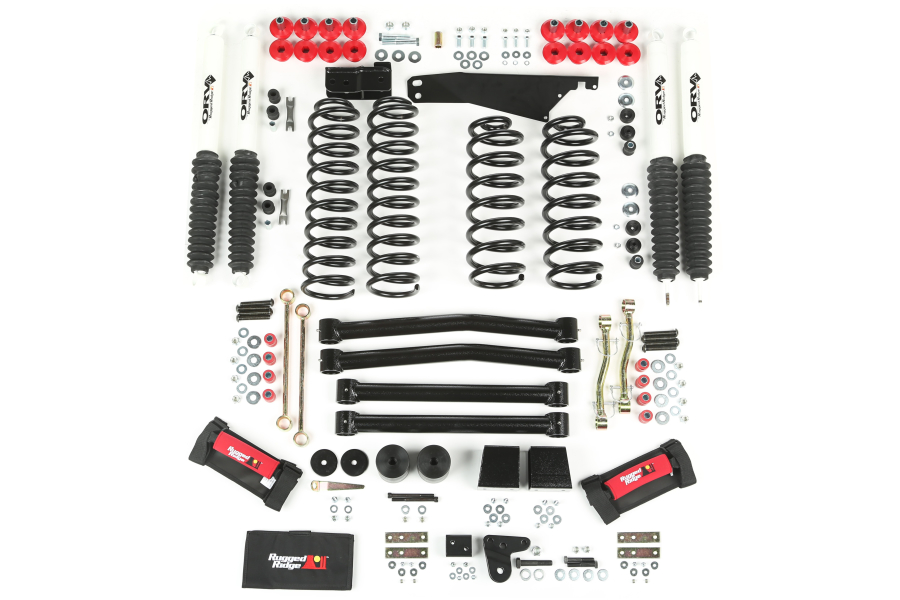 Rugged Ridge 4-Inch Lift Kit With Shocks  (Part Number:18415.60)