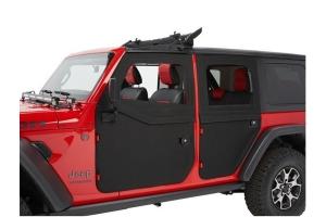 Bestop Full Fabric Rear Doors, 2-Piece - Black Diamond - JT/JL 4Dr