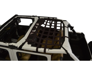 Dirty Dog 4x4 Rear Seat Netting, Black - JL 4Dr