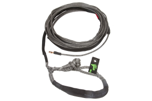 VooDoo Offroad Winch Line with Soft Shackle End 3/8in x 80ft Black
