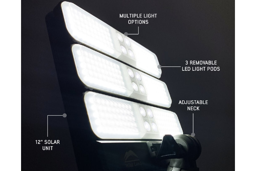 Overland Vehicle Systems Encounter Solar Powered Camping Light w/ Removable Light Pods