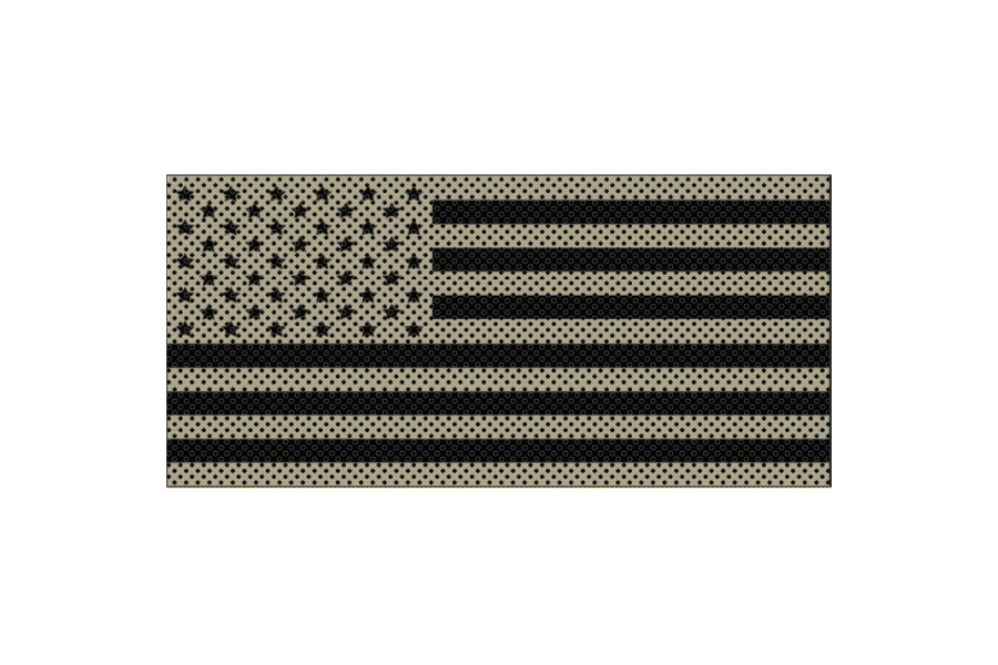 Under The Sun Inserts Desert Tan Old Glory Black Stars And Stripes Grill Insert - JL