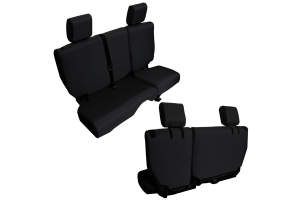 BARTACT Baseline Seat Cover Rear Split Bench Black - JK 4dr 2011-12