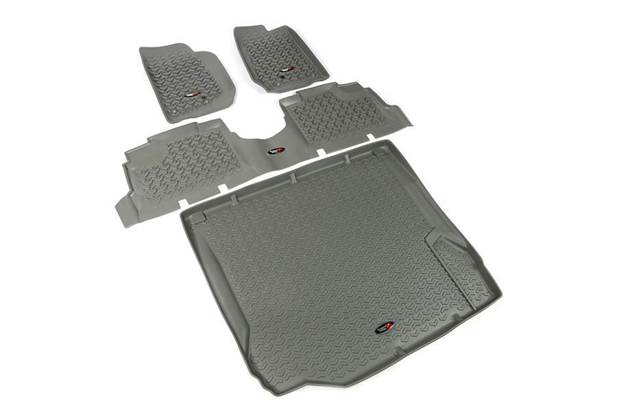 Rugged Ridge Floor Liner Kit, Gray (Part Number:14988.01)