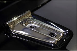 Kentrol Hood Hinge Overlays, Pair - Polished Silver  - JK