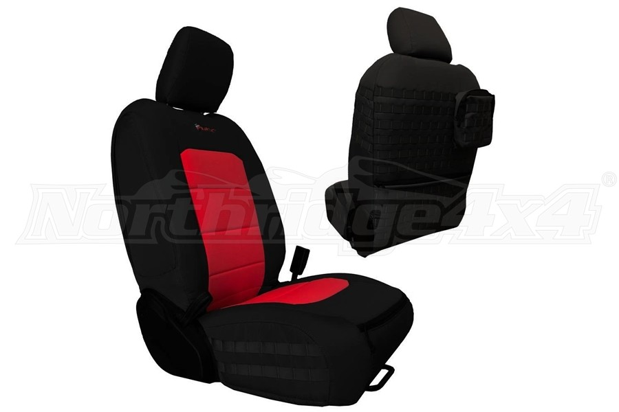 Bartact Tactical Series Front Seat Covers - Black/Red - JT