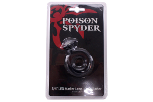 Poison Spyder 3/4in LED Marker Lamp Clear/Amber (Part Number: )