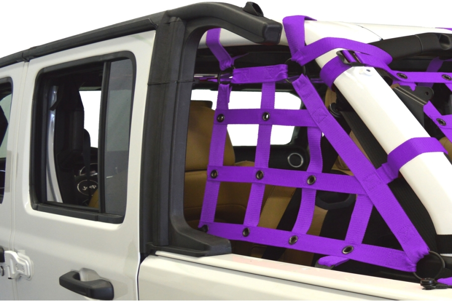 Dirty Dog 4x4 2pc Cargo side only Netting Kit, Purple - JL 4Dr