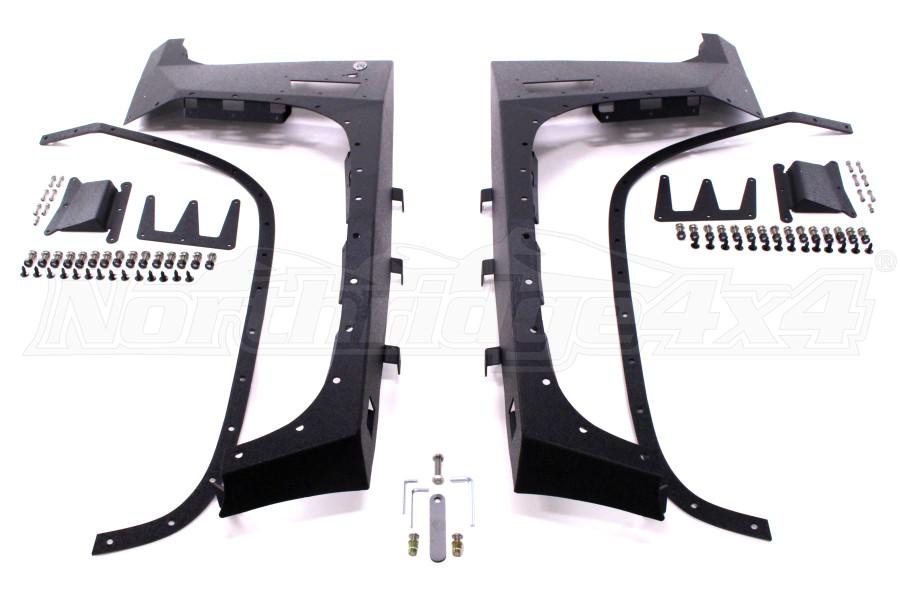 Smittybilt XRC Armor Fenders Front (Part Number:76880)