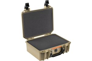 Pelican V200 Vault Medium Equipment Case w/ Foam Insert - Tan