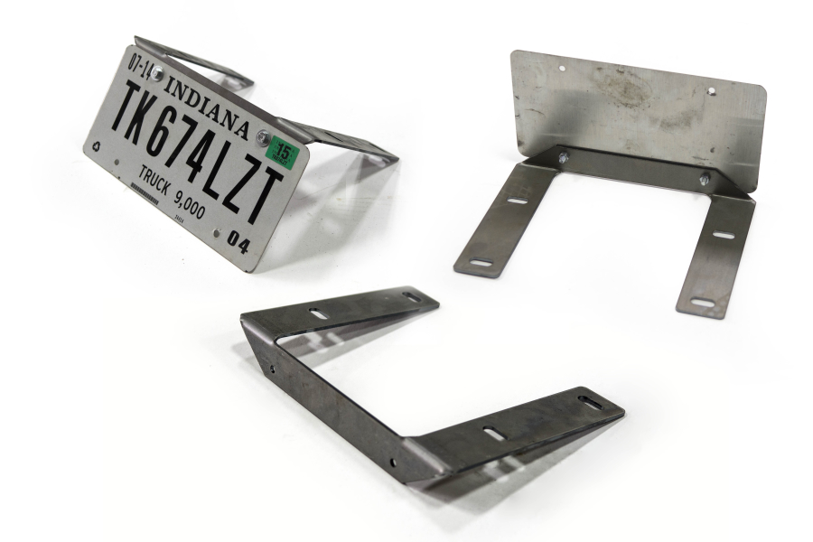 LOD Destroyer Front Bumper License Plate Mount Bare Steel (Part Number:JLP0700)