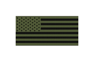 Under The Sun Inserts Olive Drab Old Glory Black Stars And Stripes Grill Insert (Part Number: )