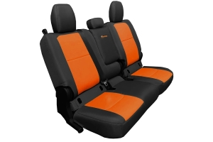 Bartact Tactical Series Rear Bench Seat Cover w/ Fold Down Arm Rest - Black/Orange - JT
