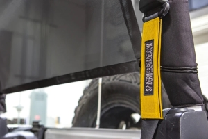 SpiderWebShade Seatbelt Silencers - Yellow - JK 2Dr