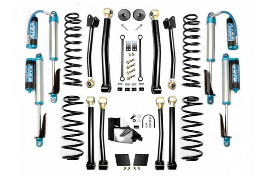 Evo Manufacturing 3.5in Enforcer Stage 4 Lift Kit w/ Comp Adjuster Shocks - JL