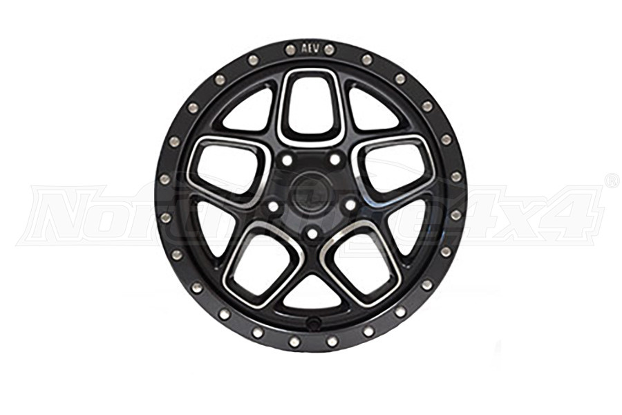 AEV Mesa Wheel Onyx Black w/ Machined Spoke 18x8.5 5x5.5 (Part Number:20404402AA)