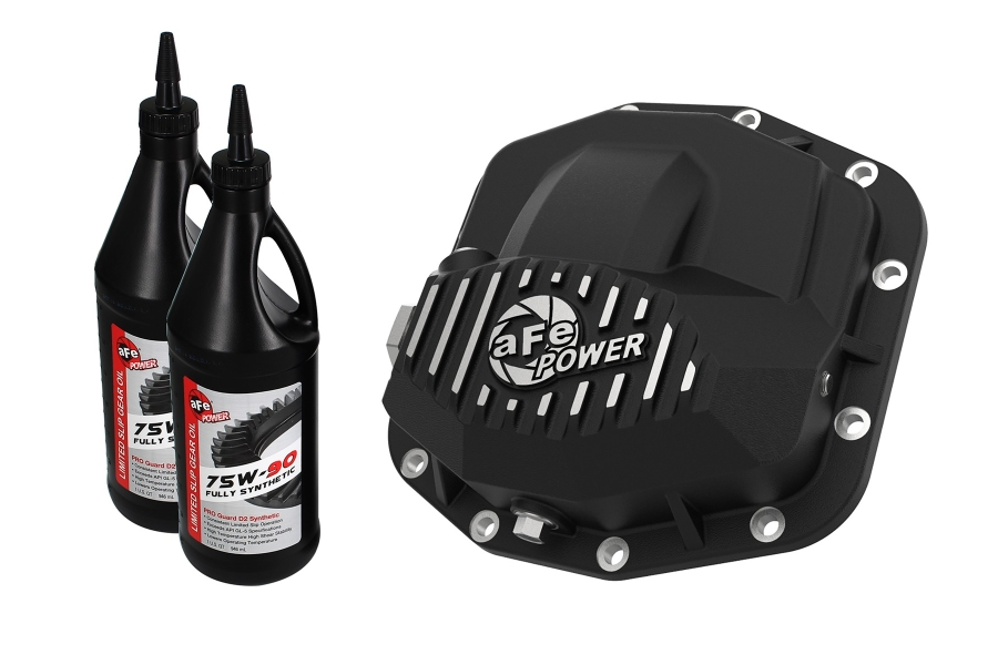 aFe Power Pro Series Front Differential Cover Black w/Oil, Black (Part Number:46-71031B)