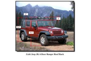 GOBI Ranger Roof Rack with Sun Roof Opening ( Part Number: GJJK4RR)