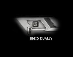 LOD Destroyer Light Bezel Options, Rigid D-Series Dually Light Bare Steel (Part Number: )