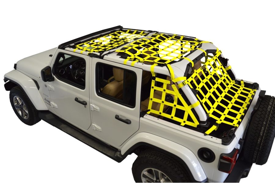 Dirty Dog 4x4 5pc Cargo Side Netting Kit, Yellow - JL 4Dr