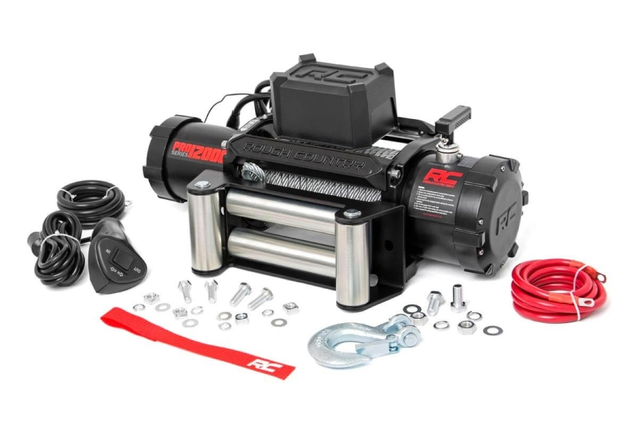 Rough Country 12000Lb PRO Series Electric Winch w/ Steel Cable