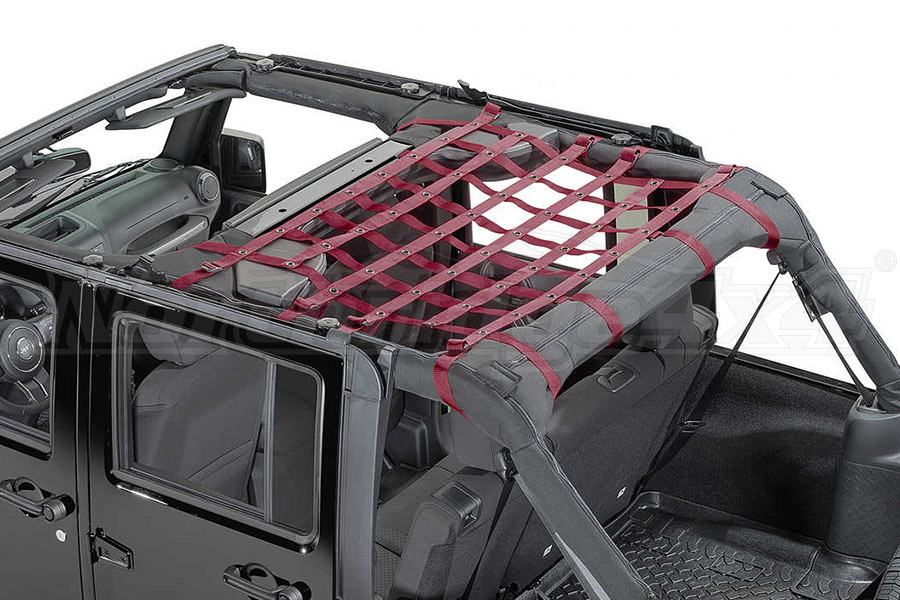 Dirty Dog 4x4 Rear Seat Netting Maroon - JK 4DR