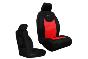 Bartact Front Seat Covers Non-Air Bag Compliant Black/Red (Part Number: )