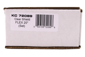 KC Hilites Flex 20in LED Light Bar Cover Clear (Part Number: )