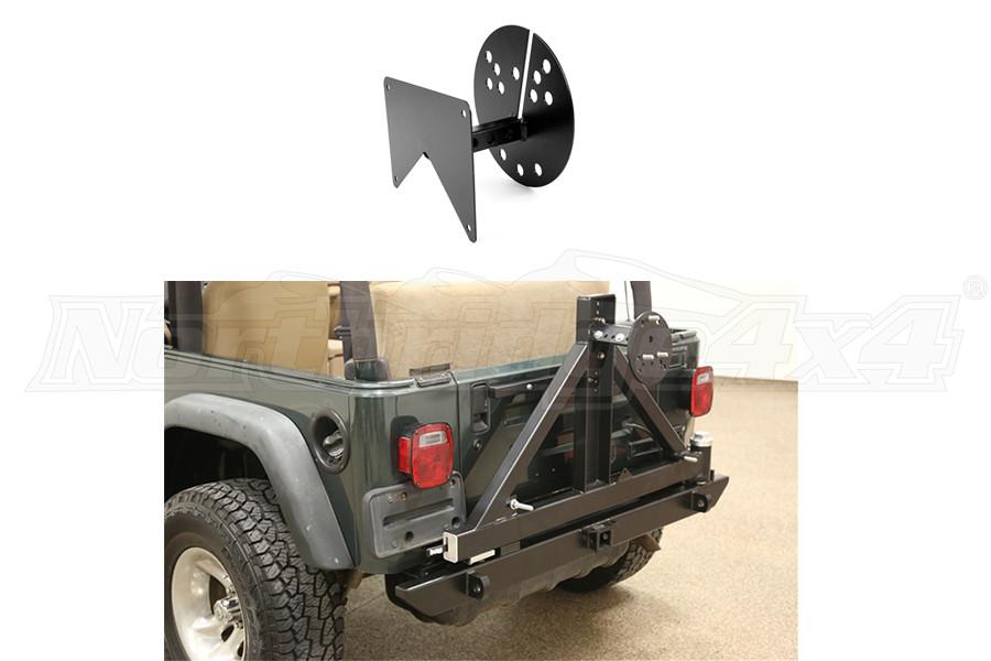 Rock Hard 4x4 Rear Bumper w/ License Plate Relocation Bracket (Part Number:REARBUMPERPKGTJ)