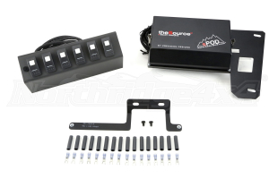 sPOD 6 Switch System with double LED light Contura rocker switches & Source System Green ( Part Number: 600-0915LT-LEDG)