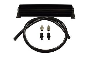 PSC 16in Single Pass Heat Sink Fluid Cooler Kit w/ 6AN Fittings - Black