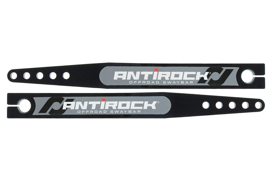 RockJock Antirock Fabricated Steel Front Sway Bar Arms, 18in. - Pair - LJ/TJ