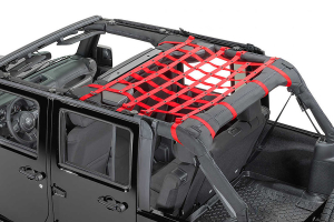 Dirty Dog 4x4 Rear Seat Netting Red (Part Number: )