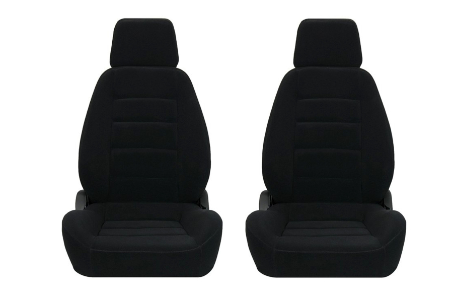 Corbeau Sport Black Cloth Seat Pair (Part Number:90001PR)