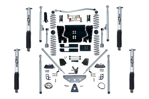 Rubicon Express 4.5in Extreme Duty Long Arm Lift Kit w/Rear Tri-Link & Mono Tube Shocks (Part Number: )