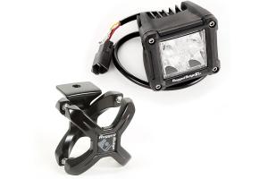Rugged Ridge Large X-Clamp & Dual Cube LED Kit, Black, 2-Pc.