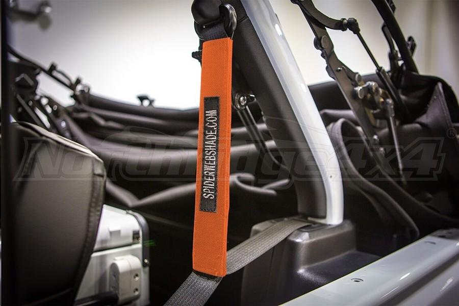 Spiderwebshade SeatBelt Silencers Orange - JL 4Dr